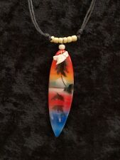 FREE POSTAGE SALE WHITE BEADS DOLPHIN SUNSET PALM TREE SURFBOARD SHARK TOOTH
