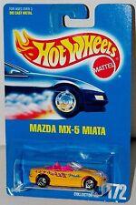 Hot Wheels Mazda Miata MX-5 BW's Blue Card Collector #172 Malaysia 1992