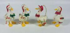 Vintage Christmas Swan Goose Duck Ornament, Made in Hong Kong, Lot of 4