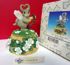 "Charming Tails Love Bunny Music Box ""I Wanna Be Loved By You"" 93/200 Figurine"