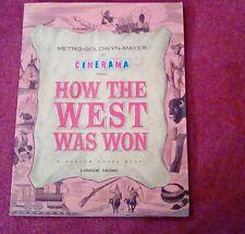 CINERAMA HOW THE WEST WAS WON A RANDOM HOUSE BOOK 1962! COLOUR PHOTOS!