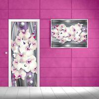 Vlies Tür Türfototapeten Fototapete Tapete Blumen  ORCHIDEE WASSER 151 VET