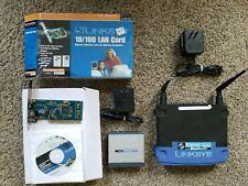 Cisco LINKSYS SD205 5-Port Hub, Internet 10/100 Network Switch w/Card (b35)