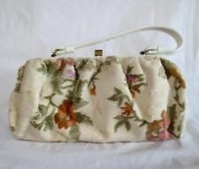 True Vintage Flower Tapestry Carpet Purse Handbag Unused ? Retro Rockabilly Bag