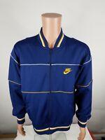Vintage 80s Nike Varsity Zip Track Jacket Large Blue Tag
