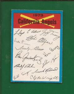 1973  OPC  Unnumbered BLUE TEAM Checklist  California ANGELS   Excellent +