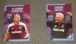Hammers Collectables Trading Card 2021/22 West Ham United - Moyes Coufal + more