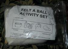 NIP FELT A BALL KIT FOR WET FELTING INCLUDES COLORED ROVING AND INSTRUCTIONS