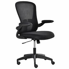Mesh Home Office Chair Swivel Task Computer Chair With Lumbar Support Arm Black