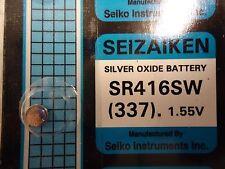 1 Pc SEIZAIKEN SR416SW(337)1.55V Silver Oxide Battery,Hi Quality-USA seller