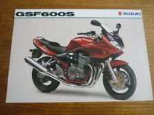 SUZUKI GSF 600 MOTORBIKE BROCHURE 2001/02 - POST FREE (UK)