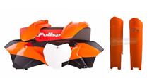 NEW Polisport KTM SX 2013 2014 Plastic Kit & Fork Guards Orange/Black/White OEM