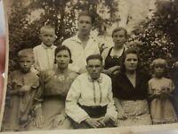 1953 SOVIET RUSSIAN FAMILY KOLKHOZ Woman Man Girls Boys Child vintage photo