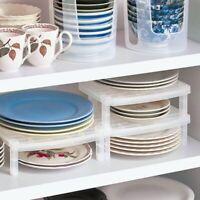 Dish Organizer Home Küche Bad Kunststoff Rack Abtropffläche Regal Halter O1S9