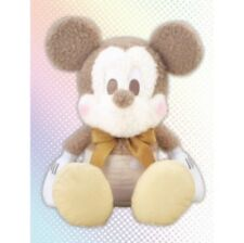 Toreba Japan Mickey Mouse Red Cheek Mega Jumbo White Gold Plush Toy