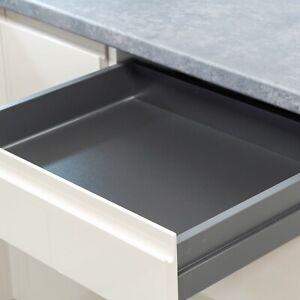 Assembled Dark Grey Grass Scala Kitchen Drawers | Various Heights & Widths