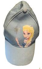 Disney Frozen Elsa Baseball Cap Little Girls Size Medium Light Blue