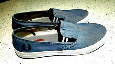 Fred Perry Blue denim Slip-on Canvas Shoe UK7 EU41
