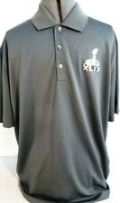 NFL Apparel-Super Bowl XLIX-Nike Dri-Fit Mens Golf Polo Shirt, Size Large, Gray
