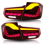 For 2012-2018 BMW 3 Series LED Tail Lights Red Lens With Sequential Turn Signal