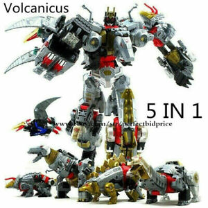 """New 5 In 1 Volcanicus BPF Dinobot Power of the Primes Action Figure 13"""" Kids Toy"""