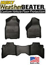 Husky 99011 Weatherbeater Rubber Floor Mats Front & Rear 09-16 Dodge Ram Quadcab