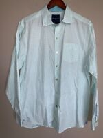 Tommy Bahama L/S Button mens shirt COTTON SEERSUCKER CHECKERED SZ L EUC