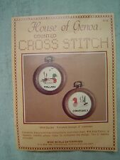 "House of Genoa Counted Cross Stitch Kit ""Wild Ducks"" Mallard and Canvasback"