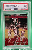 1993 Stadium Club Anfernee Hardaway ROOKIE RC #308 🏦 PSA 10 🏦 POP 15