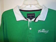 Vintage Budweiser JanSport Long Sleeve Shirt Green St. Pats Rugby Style sz XL