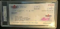 JEREMY GIAMBI SIGNED RARE ORIG. 2000 FLEER BB CARDS PAYCHECK PSA ENCAPSULATED!!!