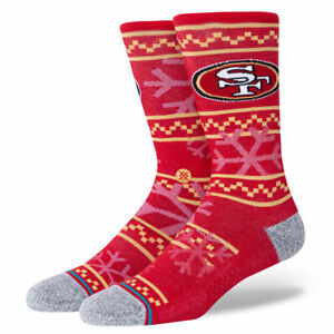 Stance x NFL San Francisco 49ers 'Frosted 49ers' | L | Crew | New With Tags