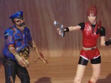Resident Evil 2 Claire Redfield & Zombie Action Figure – Rare Toybiz – Used 1998