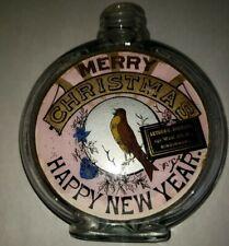 Label under glass Merry Christmas Happy New Year. Arthur Bodmann Cincinnati Ohio