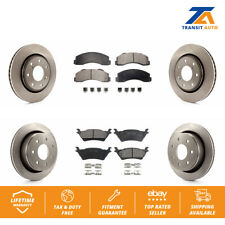 Front Rear Disc Rotors & Ceramic Brake Pads Fits 2012-2014 Ford F-150