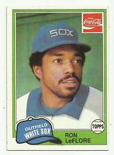 RON LeFLORE 1981 TOPPS COCA COLA #7 CHICAGO WHITE SOX