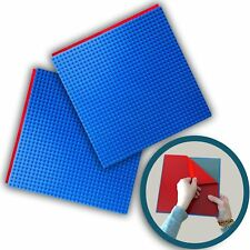 """Peel-and-Stick Baseplate (10"""" x 10"""") - By Creative Qt (2, Blue)"""