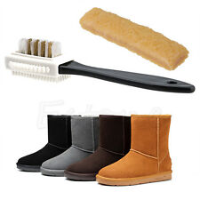 Chic 3-Sides Cleaning Brush + Rubber Eraser For Suede Nubuck Shoes Boot Cleaner