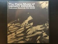 """Henry Cowell """"The Piano Music Of"""" US Folkways Press W/ Org Booklet Ex/ Ex Con"""