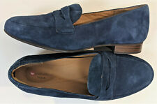 Unstructured By Clarks Unblush GQ Navy Suede Leather Loafers Women's US 8W