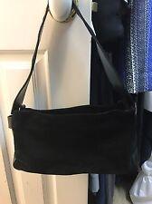 Women's Furla Black Suede Handbag