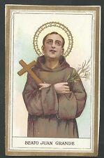 Estampa antigua Beato Juan Grande andachtsbild santino holy card santini
