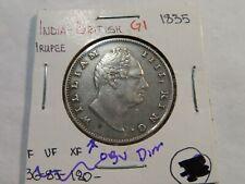 G1 India British 1835 Rupee Obverse Ding