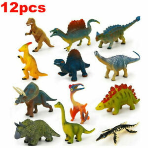12pcs Small Dinosaurs Toys set Bundle Animals Mini Figures Model Kids Toys Gift