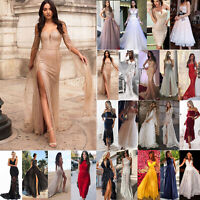 Womens Off Shoulder Bodycon Lace Maxi Dress Evening Party Bridesmaid Ball Gown