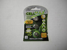 Cell Max 1.5V  Battery AG13, 357, 3 Pack,Ultra Alkaline, Mercury Free, Brand New