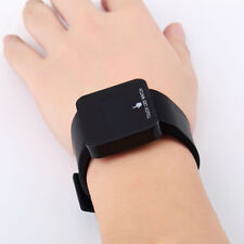 Black LED Digital Touch Screen Silicone Date Time Unisex Sport Wrist Watch GP
