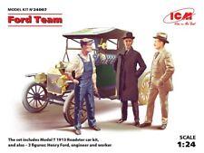 ICM 1/24 Ford equipo (modelo T 1913 Roadster Kit de coche y 3 figuras) # 24007