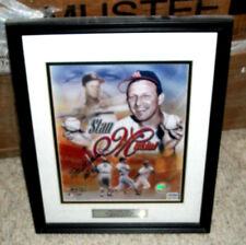BEAUTIFUL STAN THE MAN MUSIAL AUTOGRAPH PSA/DNA, #D 5 OF 10 MATTED CUSTOM FRAMED
