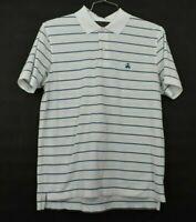 Brooks Brothers Mens Medium Original Fit Short Sleeve Striped Supima Polo Shirt